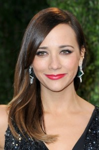 rashida jones // slick hair and red lips