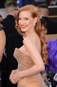 jessica chastain // gorgeous cascading waves