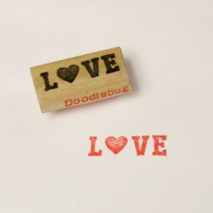 5. love stamp // doodlebug